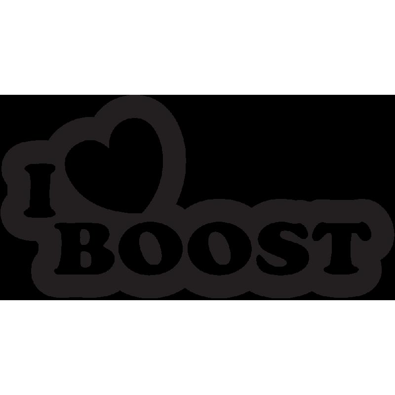 Sticker Jdm I Love Boost