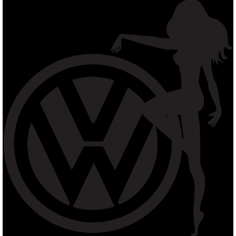 Sticker Jdm Volkswagen Chick