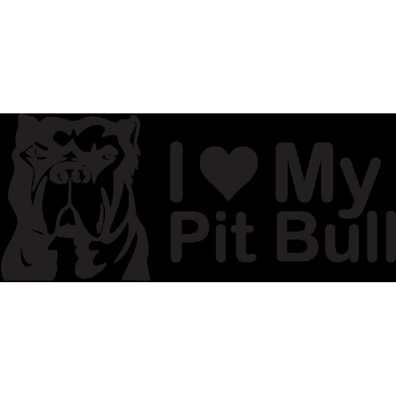 Sticker Jdm I Love My Pitbull