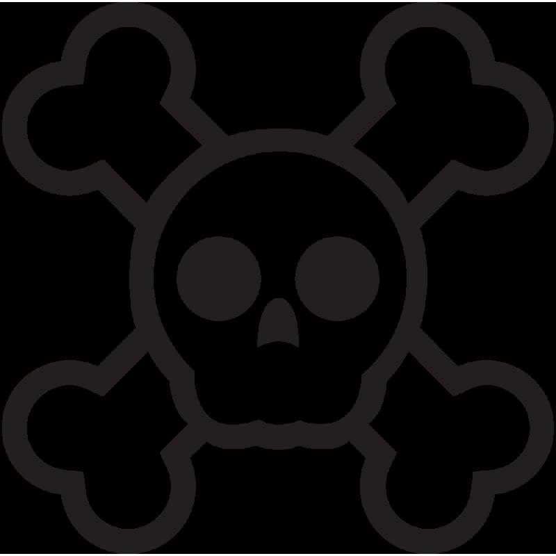 Sticker Jdm Cartoon Skull