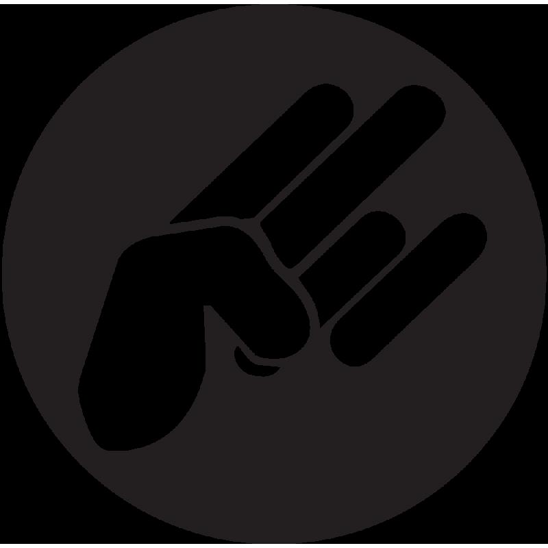 Sticker Jdm Hand