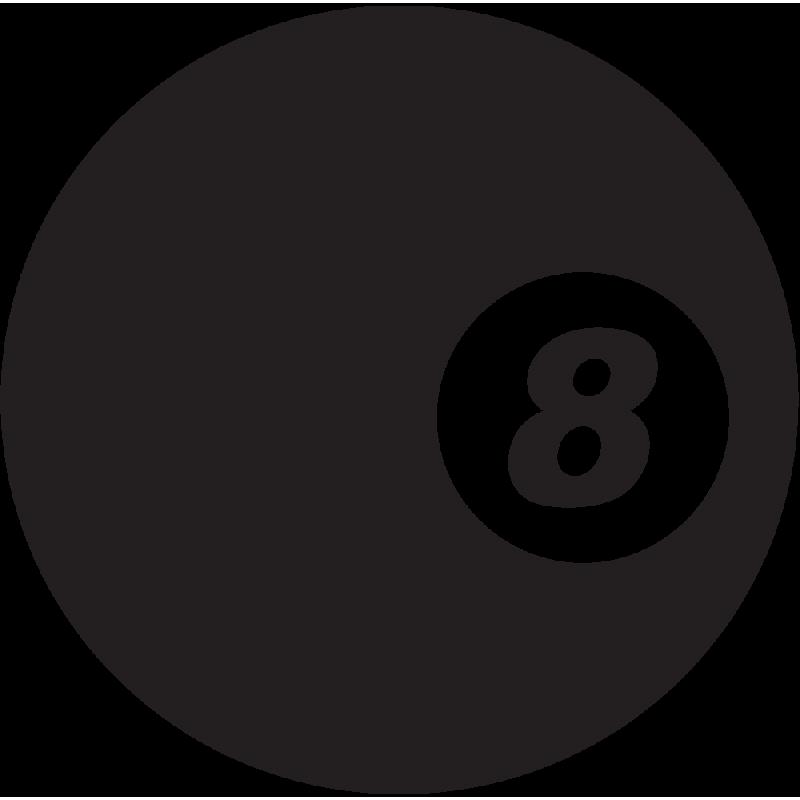 Sticker Jdm 8 Ball