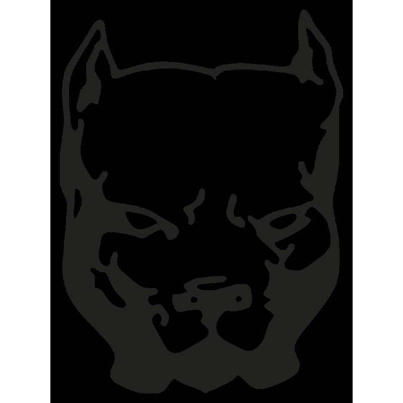 Sticker Chien Pit Bull