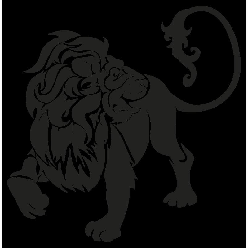 Sticker Signe Du Zodiaque Lion