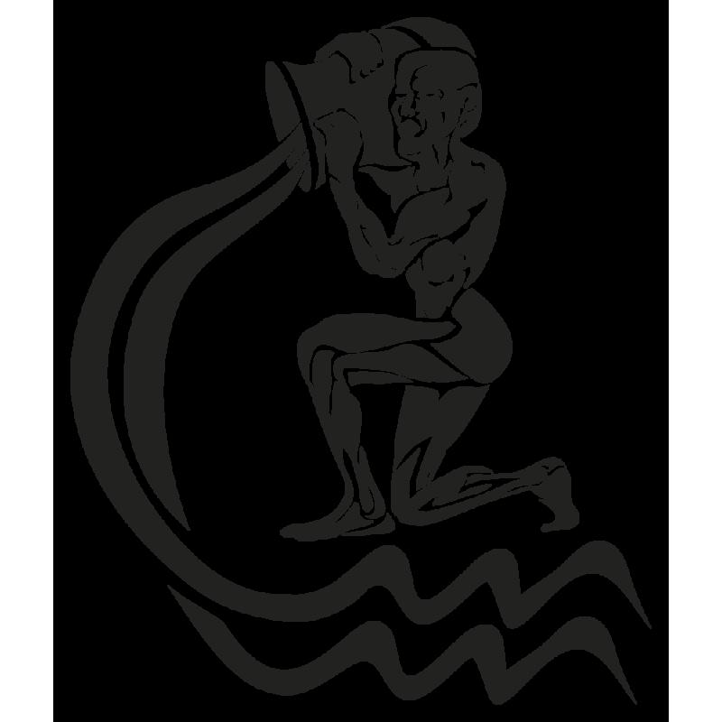 Sticker Signe Du Zodiaque Verseau