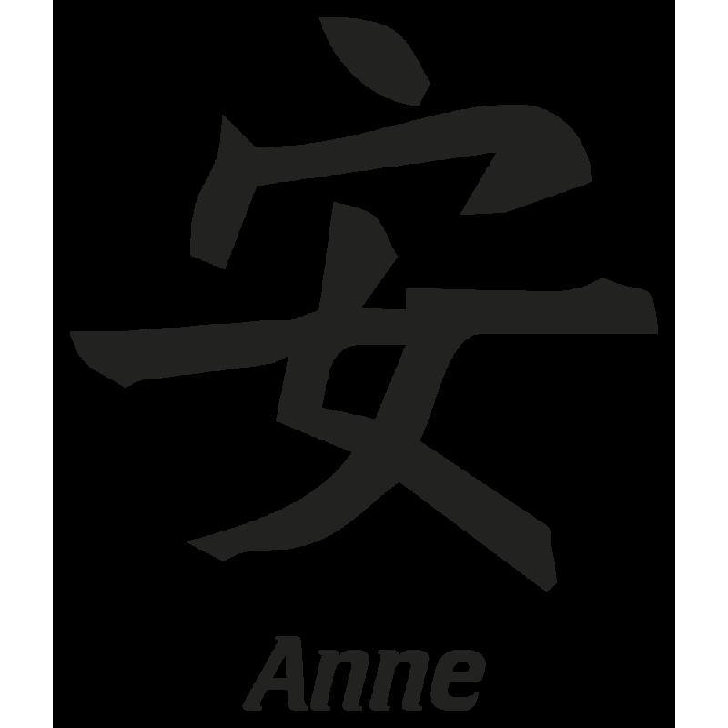 Sticker Prenom Chinois Anne