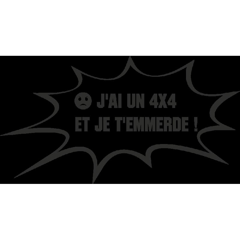 Sticker Humour 4x4