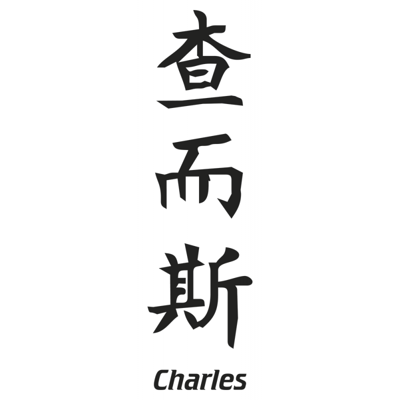 Sticker Prenom Chinois Charles