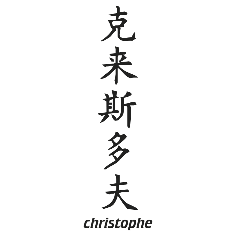 Sticker Prenom Chinois Christophe