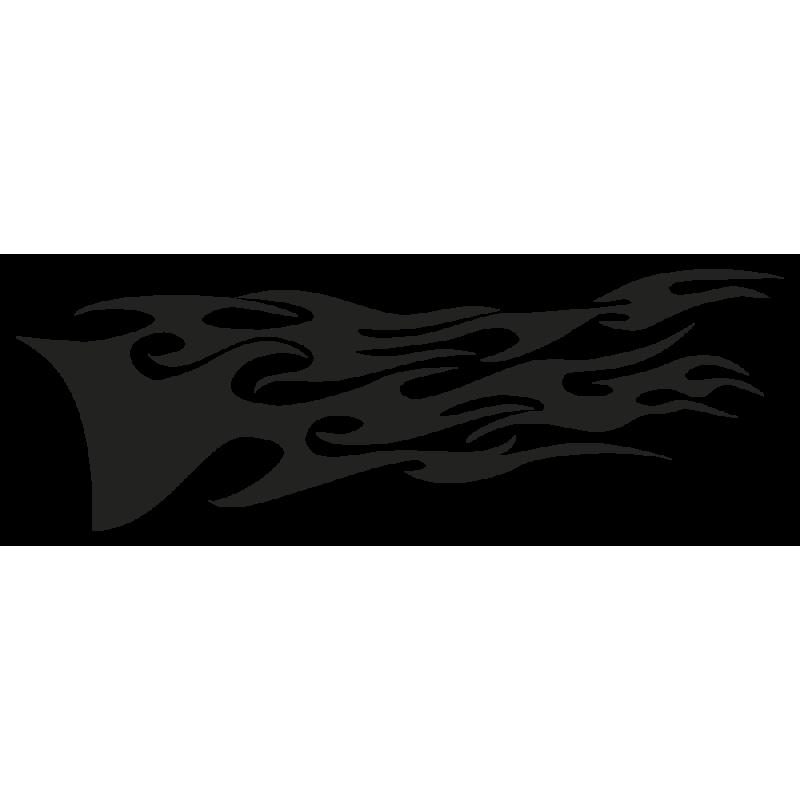 Sticker Deco Flaming