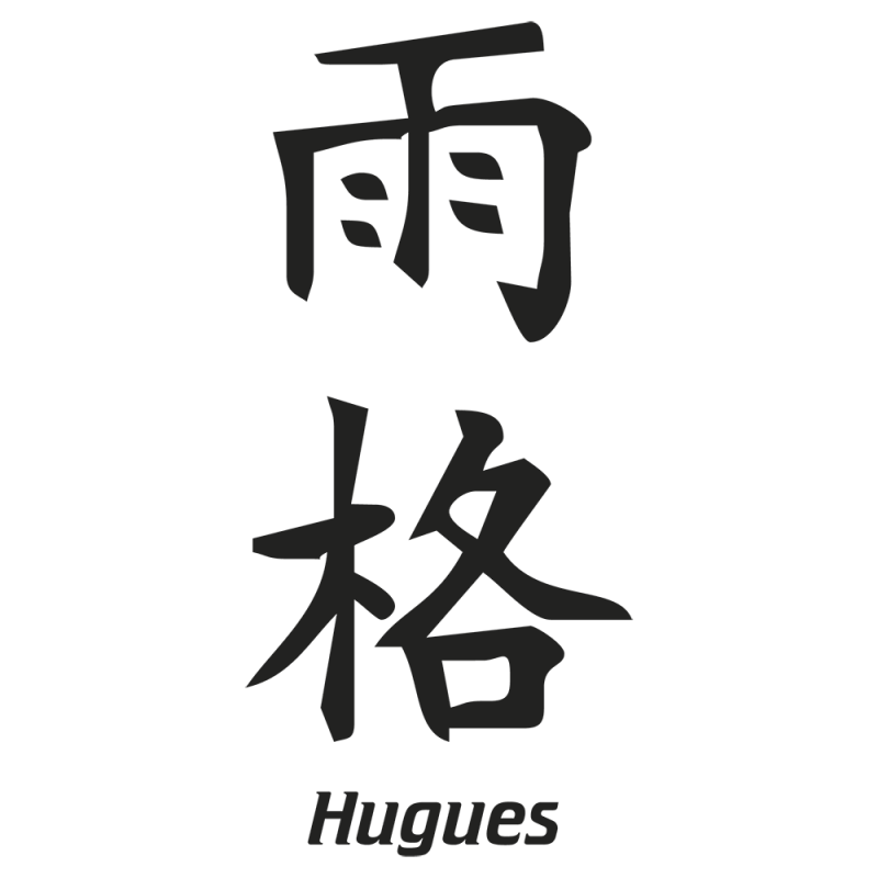 Sticker Prenom Chinois Hugues