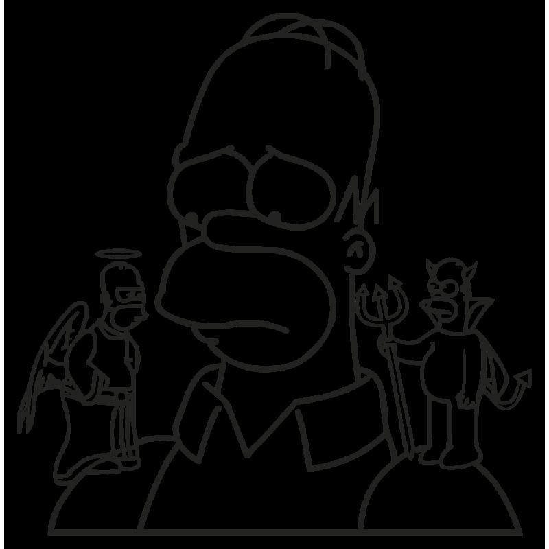 Sticker Muraux Simpson